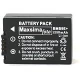 Maxsimafoto - DMW-BMB9 1250mAh BATTERY PACK for PANASONIC Lumix DMC FZ150, FZ100, FZ72, FZ70, FZ62, FZ60, FZ45, FZ40, FZ48, FZ47 BMB9, BMB9e.