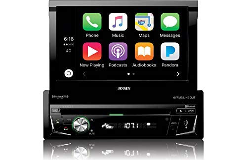 Jensen VX4014 7-Inch 1 DIN DVD CarPlay Receiver