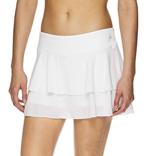 HEAD Women's Athletic Tennis Skort - Performance Training & Running Skirt - Partner Stark White, X-Large
