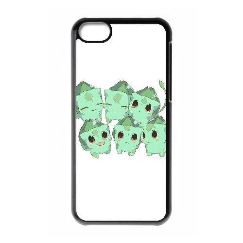 X2D21 bulbasaur pokemon O1E6HR cas d'coque iPhone de téléphone cellulaire 5c couverture de coque KS4PQV6OY noir