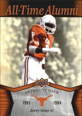 Jerry Gray football card (Texas Longhorns) 2011 Upper Deck All Time Alumni #ATA-JG