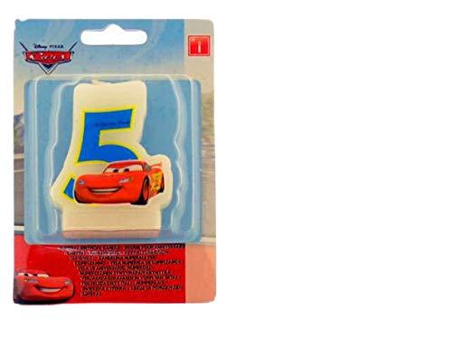 ALMACENESADAN 33545, Vela cumpleaños Disney Cars nunemo 5 ...