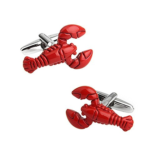 SummerTies Lobster Cufflinks - 3D, Red ()