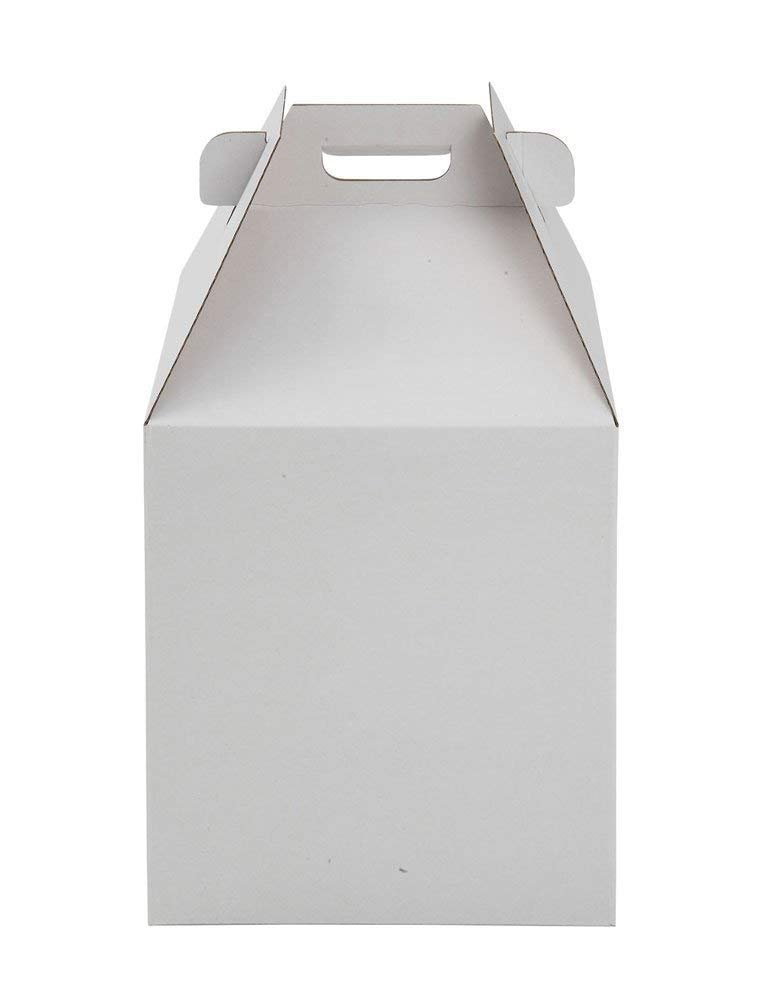 W Packaging Plain Tall White/Kraft Cake-Carrier Box 16'' x 16'' x 18'' High - Pack of 3 by WPackaging (Image #2)