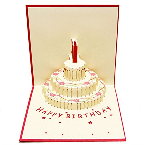 Nut Shop 3D Pop Up Light Greeting Card Happy Birthday Music Postcard Blessing Gift - Japanese Nyc In Shops