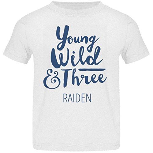 FUNNYSHIRTS.ORG Young Wild and Three Raiden: Basic Jersey Toddler T-Shirt