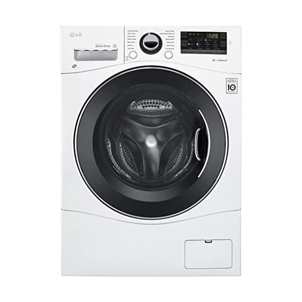 LG WM3488HW 24″ Washer/Dryer Combo with 2.3 cu. ft. Capacity, Stainless Steel...