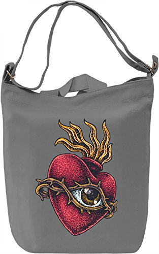 Heart with eye Borsa Giornaliera Canvas Canvas Day Bag| 100% Premium Cotton Canvas| DTG Printing|