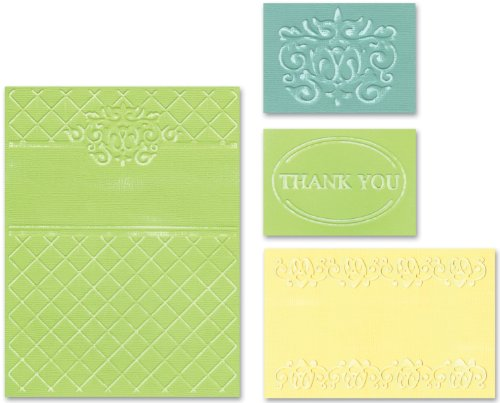 Sizzix Textured Impressions Embossing Folders 4PK - Thank You Set #5 by Rachael Bright by Sizzix