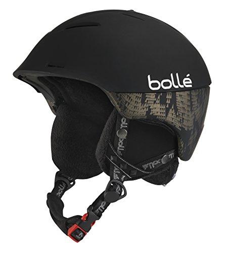 Bolle Synergy Ski Helmet (Soft Black, - Ski Uk Goggles Amazon