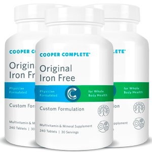 Cooper Complete - Multivitamin Iron Free - 3 Bottles (90 Day Supply) by Cooper Complete