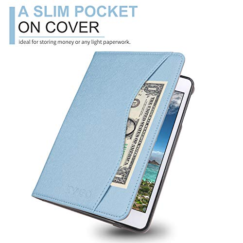 KVAGO iPad Case for New 2018/2017 iPad 9.7 inch -Auto Sleep Wake Smart Case Cover with Pencil Holder for iPad 6th Gen, iPad 5th Gen -Blue