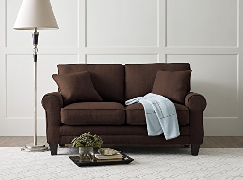 "Serta Deep Seating Copenhagen 61"" Loveseat in Windsor Brown"