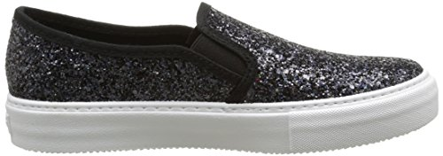 Mixte 10 Negro Glitter Victoria Baskets on Slip Noir Basses Adulte 67Bw4XBcR