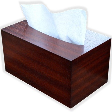 Hand Towel Box Cover made to fit Kimberly Clark Kleenex brand POP-UP Paper Hand Towel Box, By The Tissue Box Cover Store Antique Mahogany Wood