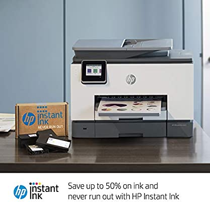 HP OfficeJet Pro 9015 All-in-One Wireless Printer, with