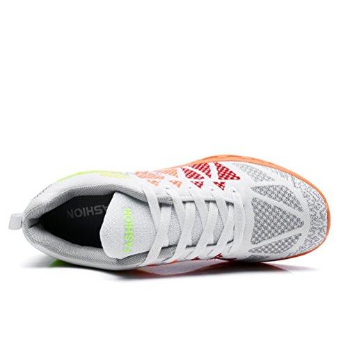 de Running XiXiDiy Blanco Zapatillas de Caucho para Mujer vqn1Rw8