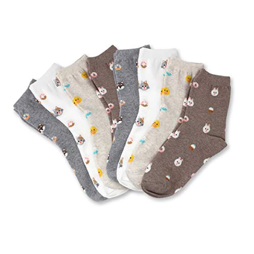 (LIVEBEAR Womens Cute Mini Print Funny Novelty Crew Socks Made In Korea (Desserts 8 Pack))