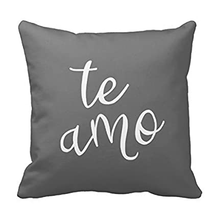 Amazon.com: Acelive 18 x 18 inches Chic gris oscuro y blanco ...