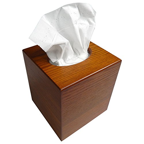 Tomokazu Powell Oak Wood Boutique Facial Tissue Box Cover/Wooden Holder/Paper Dispenser (Cover Wooden Tissue Box)