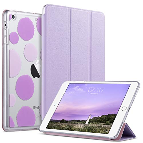 iPad Mini 3 Case,iPad Mini 2 Case,iPad Mini Case,ULAK Slim Bumper Smart Case Stand for Apple iPad Mini 1/2/3 Colorful Clear Back Cover Lightweight with Auto Sleep/Wake Function, Lavender