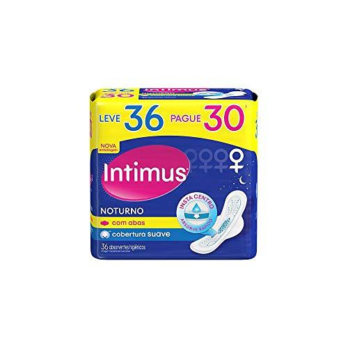 Intimus Absorvente Externo, Noturno Suave com Abas, 36 unidades - Leve 36 Pague 30