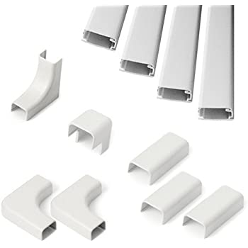 wiremold c210 cord mate ii kit cable concealer on wall cord cover raceway white. Black Bedroom Furniture Sets. Home Design Ideas