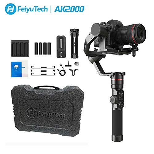 FeiyuTech Feiyu AK2000 DSLR Camera Gimbal 3-Axis Handheld Stabilizer with Tripod for Panasonic GH5 GH5S Sony A7 Canon 5D… 1