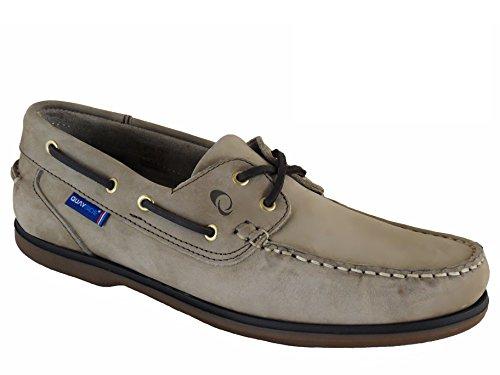 Quayside Clipper Zapatos Náuticos/mocasín De Cuero Para Hombre Beige