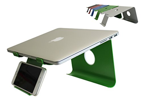 - DiiZiGN THE BEST Laptop Stand with Phone Holder for Notebook, Computer, Table (MODEL-N, GREEN)