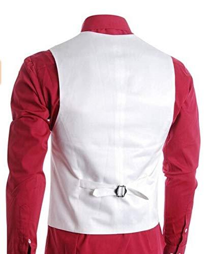 Affaires Slim Smart Coupe Fumer Gilet Costume Maigre Veste Moderne Homme Décontracté Solemn Élégant Blanc qUIHyyzBwv