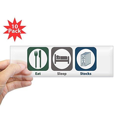 CafePress - Eat Sleep Stocks Bumper Sticker (10 Pk) - 10