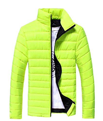 Thicken Green Jacket Solid Mens Fit Stand Zip XINHEO Collar Casual Anorak vqFB15w1z