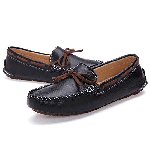 T-juli Dames Bowknot Loafers Schoenen Fashion Casual Lichtgewicht Antislip Mocassin Platte Schoenen Zwart