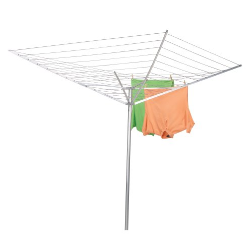 Amazon.com: Household Essentials 17120 1 Rotary Outdoor Umbrella Drying  Rack | Aluminum Arms And Steel Post | 12 Lines With 165 Ft.