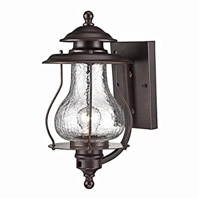 Acclaim 8201ABZ Blue Ridge Collection 1-Light Wall Mount Outdoor Light Fixture, Architectural Bronze