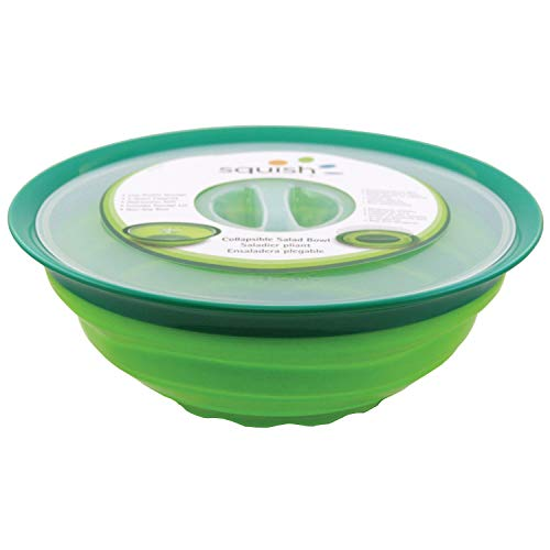Squish Collapsible Salad Bowl with Lid - 5 Quart Covered Dish ()