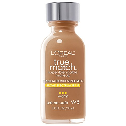 Creme Foundation - L'Oréal Paris True Match Super-Blendable Foundation Makeup, Creme Cafe, 1 fl. oz.
