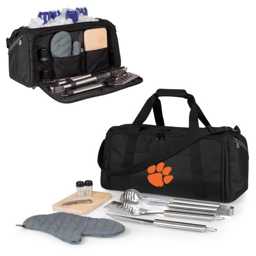 PICNIC TIME NCAA Clemson Tigers BBQ Kit Cooler Tote with Barbecue & Accessories