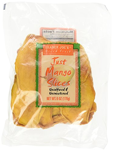 Trader Joe's Dried Fruit Just Mango Slices 6 Ounces 1 Pack
