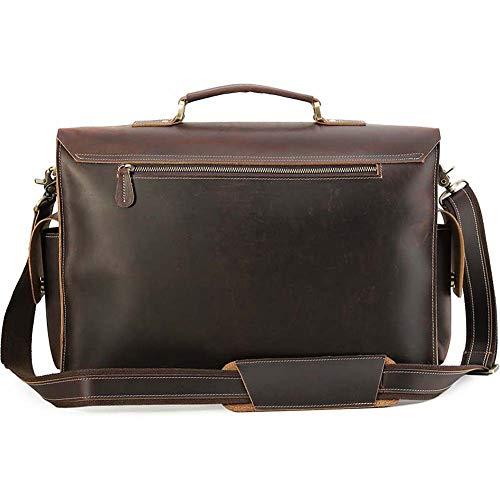 viaggio viaggio da pelle vintage corta Fzyqy in da scuro borsa marrone da borsa tracolla a uomo Borsa pRqBnwxOx