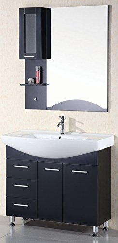 - Design Element Sierra Single Drop-In Sink Vanity Set, 40-Inch