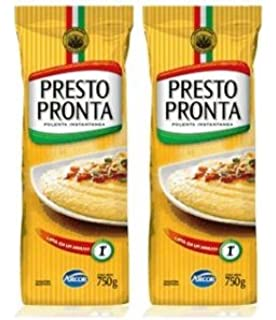 PRESTO PRONTA Polenta Instantanea 750 gr. - 2 PACK/Instant Cornmeal 1.65 lb -