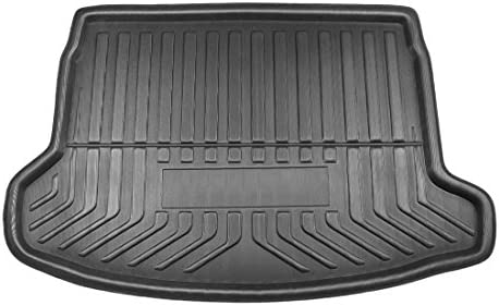 uxcell Black Car Rear Trunk Tray Boot Liner Cargo Mat Floor Protector Replacement 130 x 30cm