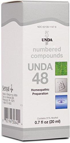 UNDA - UNDA 48 - Numbered Compounds - Homeopathic Preparation - 0.7 fl oz (20 ml) ()