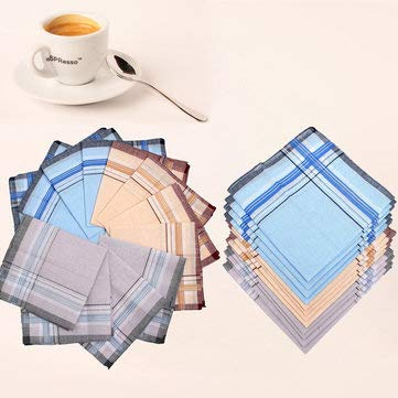 - Home Textiles Handkerchief - 12Pcs Cotton Men Pocket Handkerchief Square Hanky For Wedding Party