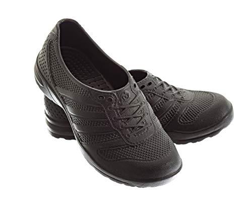 Nova Flex Unisex Nursing Clogs Ultralite Nurse Shoes unifororm Professional Work Clogs for Health Care Hospitals and Restaurant (35, Black) ()