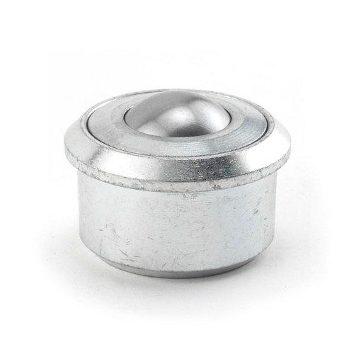 Hudson Bearings HDBTM-1-3/16 Drop-In Heavy Duty Ball Transfer with Metal Cap, Carbon Steel, 1-3/16