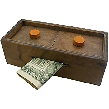 Bits and pieces wooden currency gift for 4 compartment piggy bank