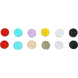 Ababalaya 2cm Muslim Multi-Use Rhinestone Magnetic Scarf Brooch Round Hijab Pin Pack of 12,Multicoloured